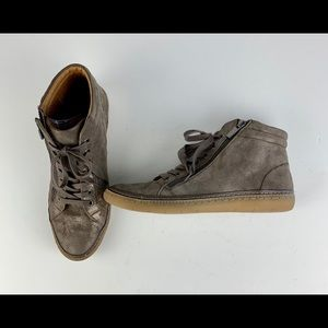 Sofft Annaleigh High Top Sneaker 10 Taupe Zip Lace